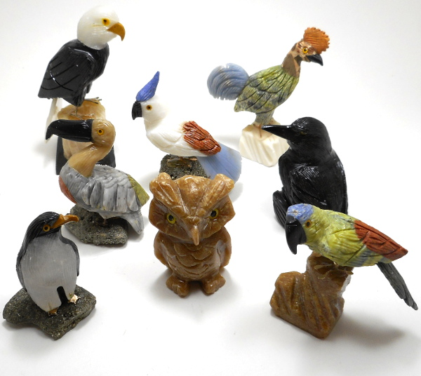 Bird figurines rock shop wholesale and supply