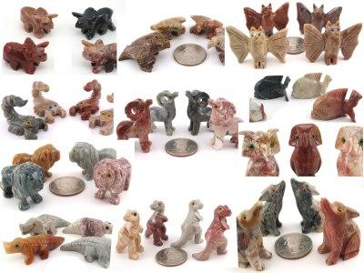 Soapstone Animals - Large - Rock Shop Wholesale and Supply