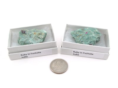 Ruby in Fuchsite, Medium, Gift Box - 5 Pieces
