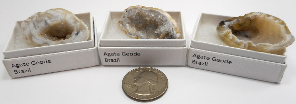 Agate Geode, Small, Gift Box - 5 Pieces
