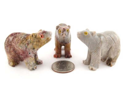 Soapstone Bear, Medium - 5 Pieces