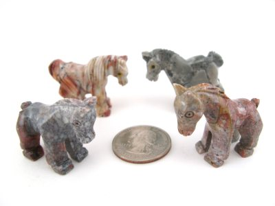 Soapstone Horse, Small - 5 Pieces