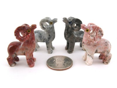 Soapstone Ram, Small - 5 Pieces