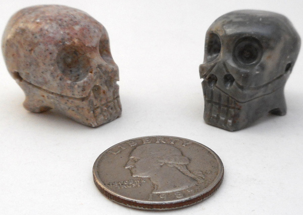Soapstone Skull Small 5 Pieces Rock Shop Wholesale And