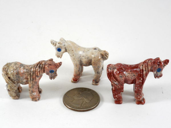 Soapstone Unicorn, Small - 5 Pieces