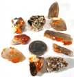 Spessartine Garnet & Smoky Quartz, 2nd Quality - 10 Pieces